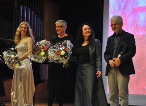 von links: Elena Kassmann, Barbara Kling, Edith Murasova, Alain Houdus