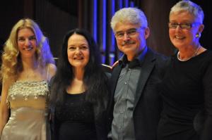 von links: Elena Kassmann, Edith Murasova, Alain Houdus, Barbara Kling